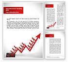 Business Concepts: Corporate Rise Word Template #08900