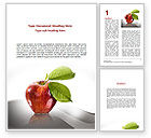 Business Concepts: Sweet Red Apple Word Template #08906