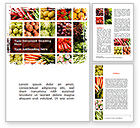 Agriculture and Animals: Vegetables Collage Word Template #08913