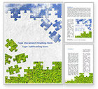 Nature & Environment: Sky and Grass Puzzle Word Template #08918