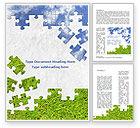 Nature & Environment: Hemel En Gras Puzzel Word Template #08918