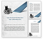 Religious/Spiritual: Wheel Chair Word Template #08922