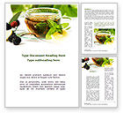 Food & Beverage: Mulberry Tea Word Template #08933