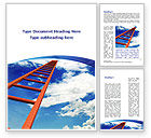 Consulting: Ladder to Sky Word Template #08940