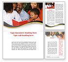 People: Plantilla de Word - feliz familia leyendo la biblia #08942