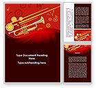 Art & Entertainment: Trumpet Music Word Template #08945