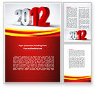 Business: 2012 Year Word Template #08947