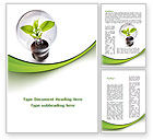 Nature & Environment: Renewable Green Energy Word Template #08950