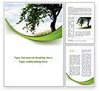 Nature & Environment: Grüner baum Word Vorlage #08958