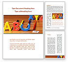 Education & Training: Educational Letters Word Template #08960
