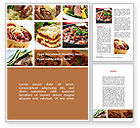 Food & Beverage: Cooked Food Word Template #08962