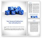 Financial/Accounting: Percent Cubes Word Template #08963