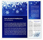 Holiday/Special Occasion: Snowflakes Night Word Template #08967