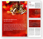 Holiday/Special Occasion: Bells On Christmas Tree Word Template #08969