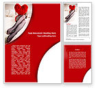 Holiday/Special Occasion: Lady with Heart Word Template #08976