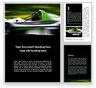 Cars/Transportation: Formula One Pilot Word Template #08982