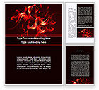 Abstract/Textures: Tongues Of Flame Word Template #08988