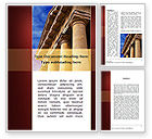 Education & Training: Classic Greece Portico Word Template #08990