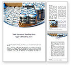Careers/Industry: Cans of Water Word Template #08999