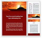 Military: Heavy Aircraft Carrying Cruiser Word Template #09002
