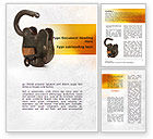 Consulting: Massive Padlock Word Template #09008