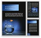Business Concepts: 水族馆鱼正在跳跃Word模板 #09014