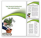 Financial/Accounting: Money Tree Growing Word Template #09015