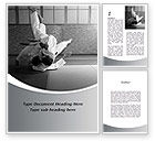 Sports: Japan Martial Arts Word Template #09016