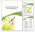Food & Beverage: Cocktail with Lemon Word Template #09020