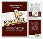 Business Concepts: Time is Money In Cubes Word Template #09027