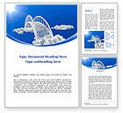 Religious/Spiritual: Dream Bridge Word Template #09029