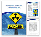 Military: Radioactive Danger Word Template #09031