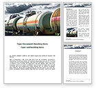 Cars/Transportation: Rail Tank Cars Word Template #09036