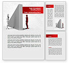 Consulting: Wall Of Misunderstanding Word Template #09038