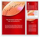 Medical: Cardiogram Band Word Template #09045