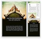 Education & Training: Fantasy Castle Word Template #09050