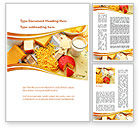 Food & Beverage: Hard Cheese And Milk Word Template #09051