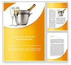 Food & Beverage: Champagne In A Silver Bucket Word Template #09055