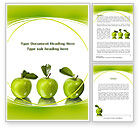 Agriculture and Animals: Green Apples Word Template #09060