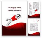 Sports: Goalie Word Template #09064