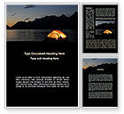 Holiday/Special Occasion: Quiet Lake Word Template #09073