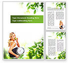 Sports: Healthy lifestyle Word Template #09080