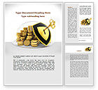 Financial/Accounting: Key Savings Protection Word Template #09085