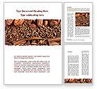 Food & Beverage: Unrefined Grains Word Template #09099