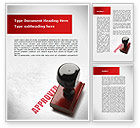 Business Concepts: Approved Stamp Word Template #09111