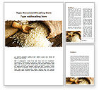 Food & Beverage: Grains Of Rice Word Template #09117
