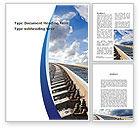 Cars/Transportation: Railway Track Word Template #09146