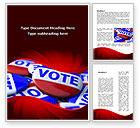 Holiday/Special Occasion: Vote Badges Word Template #09149
