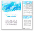 Holiday/Special Occasion: Snowflakes Swirl Word Template #09152