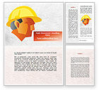 Construction: Builder's Portrait Word Template #09157